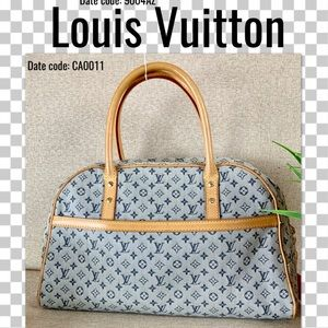 Louis Vuitton sacthel marie navy blue handbag
